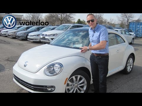 2015 VW Beetle in Oryx White Review at Volkswagen Waterloo with Mike Raab