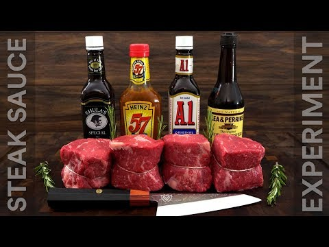 Steak SAUCE Experiment - A1 Sauce, Don Shula, Heinz 57 & Worcestershire!