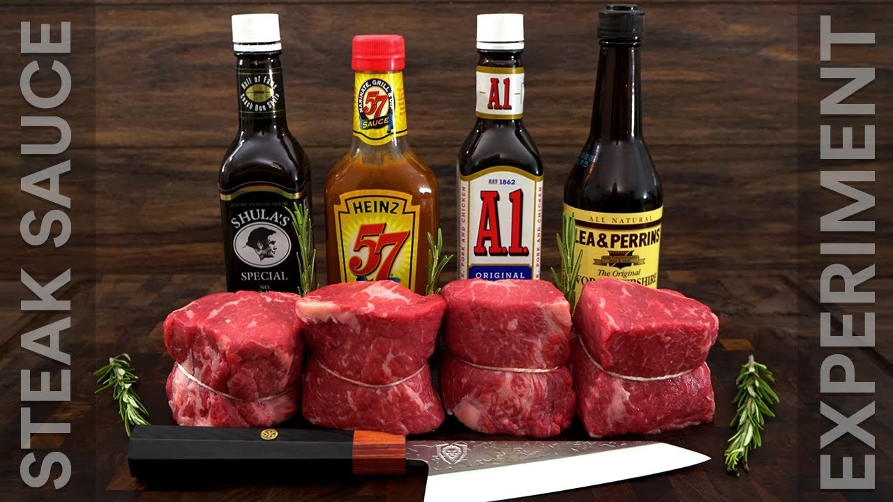 Steak Sauce Experiment A1 Sauce Don Shula Heinz 57 Worcestershire Youtube