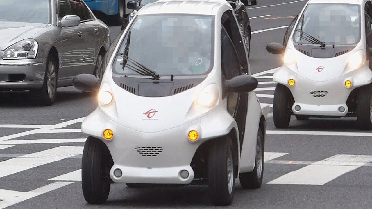 Electric Riding Vehicle >> シティコミューター超小型電気自動車EV『COMS』The small electric vehicle of one person riding. - YouTube