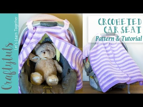 Crochet Car Seat Cover Free Pattern And Tutorial With Link To