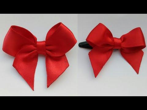 f278345087cc DIY Ribbon Bow|Make Easy Ribbon Hair Bow|How to make ribbon bow|Gift Ribbon  Bow|Bow with clips