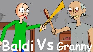 GRANNY THE HORROR GAME ANIMATION #14 : Baldi VS Granny (Parody)