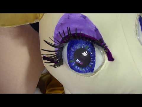 Мастер класс как сделать ресницы для глаз ростовой кукле на примере коровы