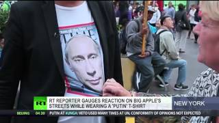 Here's what happens when you walk streets of NYC dressed in pro-Putin t-shirt
