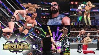 WWE 2K18 - Wrestlemania 34 Show Highlights (Top 10 best moments)