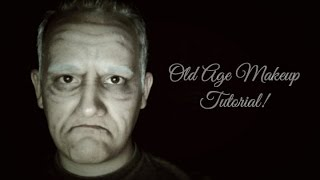 Theatrical Old Age Makeup Tutorial - Granddad Dan!
