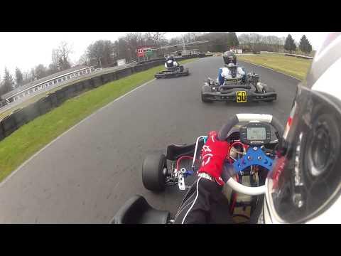 "Netter ""Kampf"" unter 3 Rotax Max Fahrern in Wittgenborn bei teilweise feuchter Strecke am 14.04"
