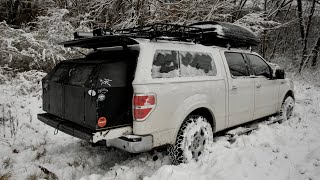 Winter Truck Camping iฑ a 2-Foot DIY Topper Extension - Essential Tips to Keep you Warm and Safe