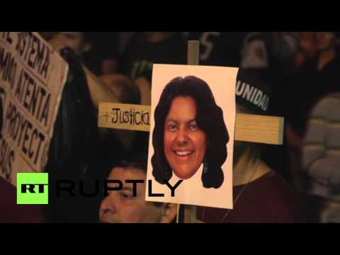 Honduras: Hundreds demand justice for killed activist Berta Caceres
