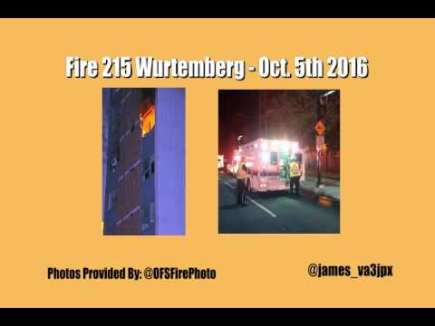 Fire at 215 Wurtemberg St. Ottawa, Ontario Oct 5th 2016
