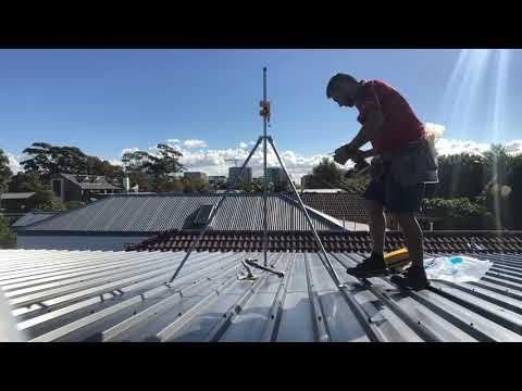 How To Jim S Antennas Universal Mount Colourbond Tin Roof Install Youtube