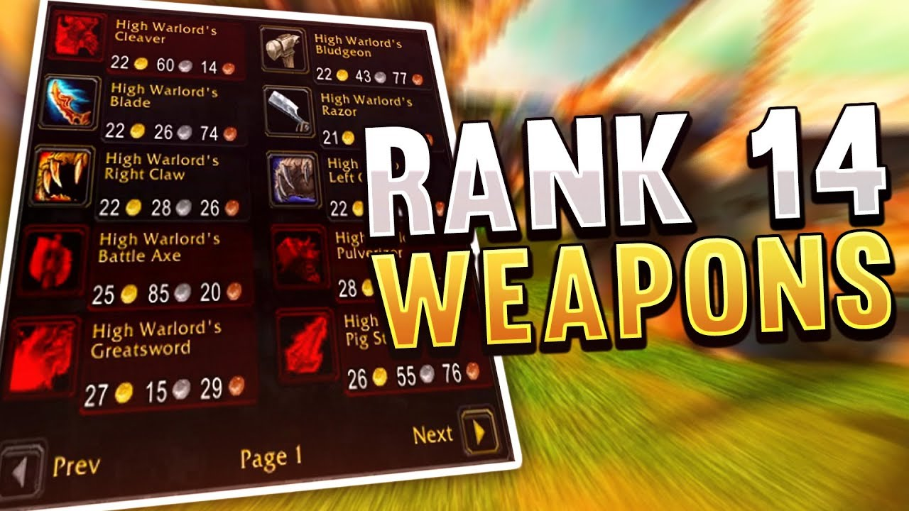 Destroying Players With My Rank 14 Weapons! WoW Classic