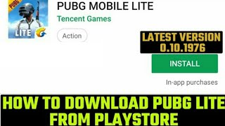 pubg mobile lite app download