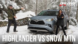 2020 Toyota Highlander Snow Tire Off-Road Adventure and Review