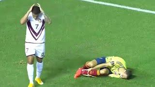 Ужасный перелом ноги Ариаса в матче Колумбия - Венесуэла!!!