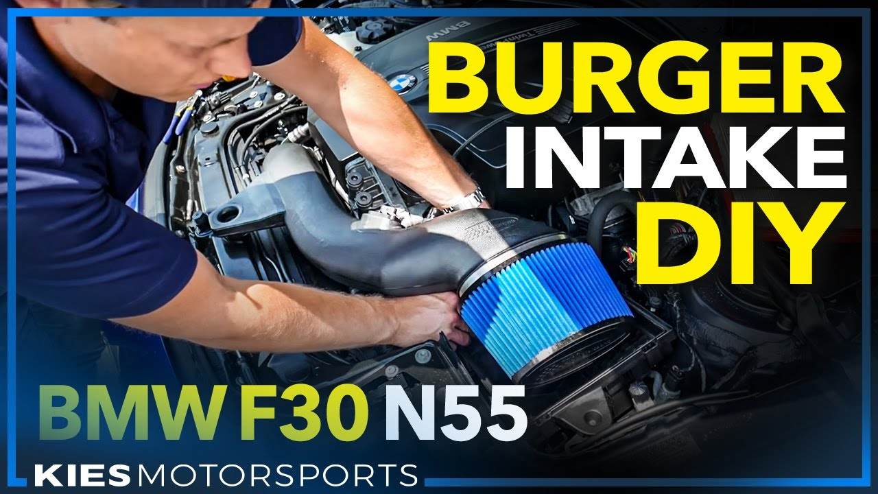Burger Motorsports F30 BMW N55 Performance Intake Installation and Sound  Clips (2013 F30 335)