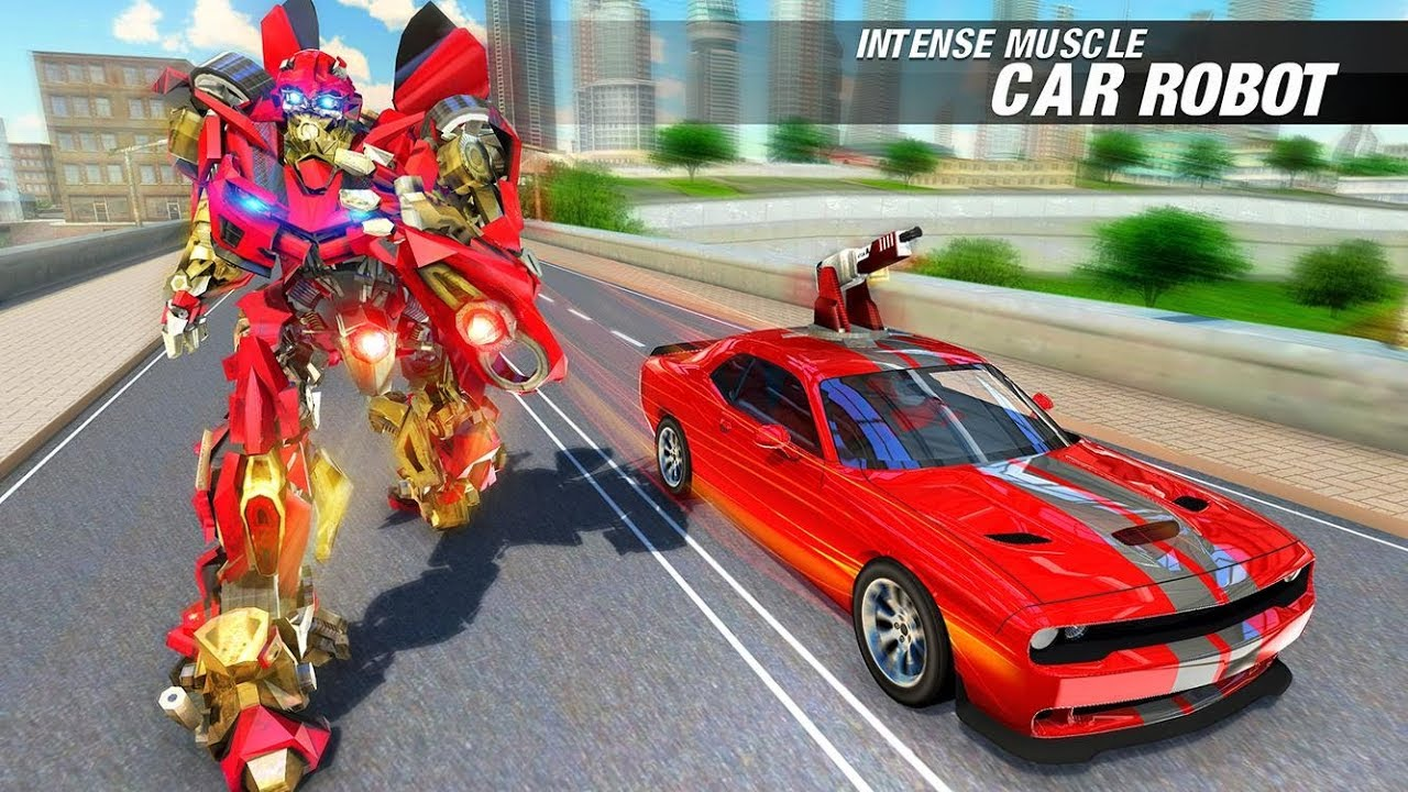 Muscle Car Robot Transforming Robot Car Games By Turbo Dreamz