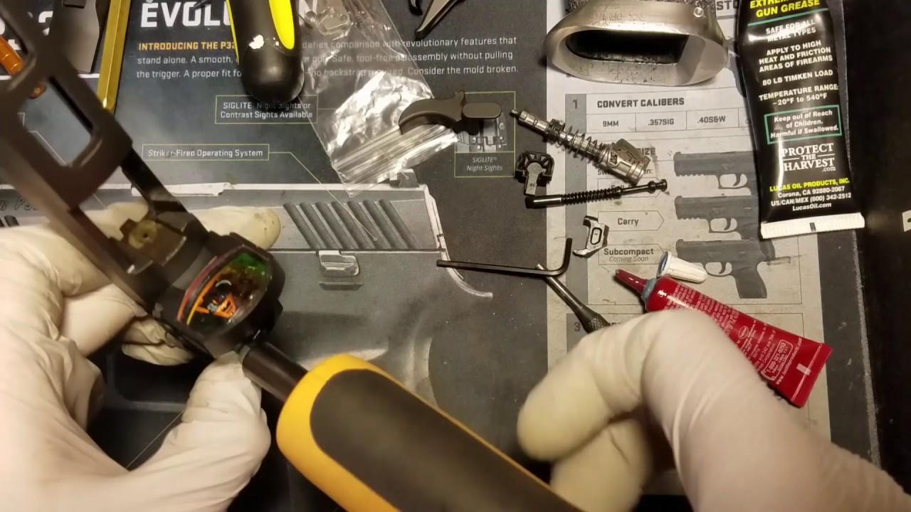 SIG P320 X5 Romeo1 Install