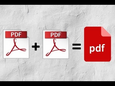 Как объединить сканированные файлы в один pdf