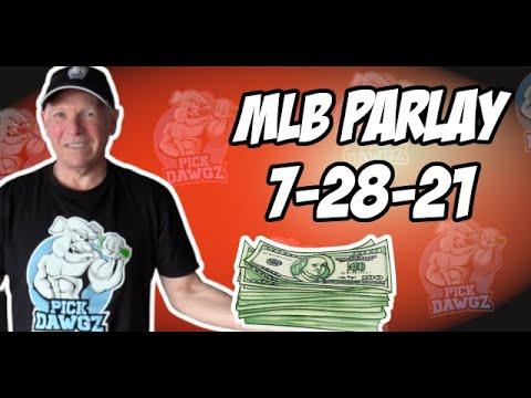 Free MLB Parlay For Wednesday 7/28/21 MLB Pick and Prediction MLB Betting