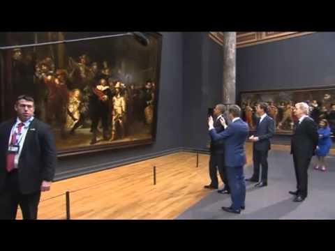 Aankomst Obama in Rijksmuseum