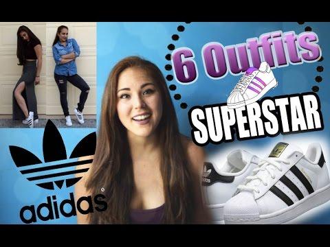 trimestre brillo Penélope  6 Outfits para combinar con Adidas SuperStar ♥ - YouTube