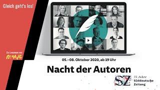 Die Nacht der Autoren 2020: 75 Jahre Süddeutsche Zeitung