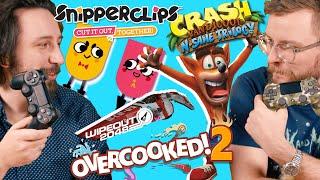 Gramy w gry! Overcooked, Wipeout, Crash, Snipperclips - Lekko Stronniczy #1122