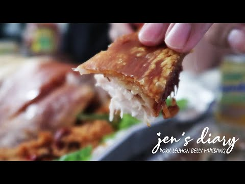 Pork Lechon Belly Mukbang