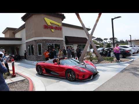 In-N-Out Drive Through With a Koenigsegg Regera!