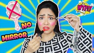 NO *Mirror* Makeup Challenge | আয়না ছাড়া এ কেমন মেকআপ ! Nilanjana Dhar| Bong Army