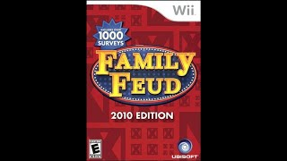 Nintendo Wii Family Feud 2010 Edition 4th Run Game #1