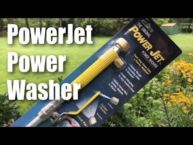 The Original Power Jet Power Washer Spray Hose Nozzle Review Youtube