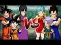 Goku, ChiChi Goten VS Vegeta, Bulma Trunks Dragon Ball Song Đấu