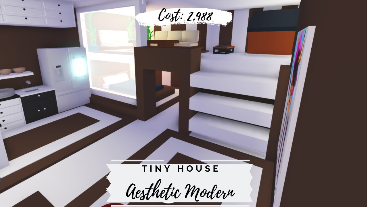 Tiny Aesthetic Modern House Roblox Adopt Me Youtube
