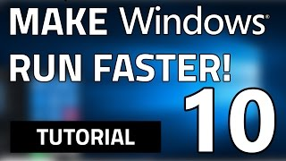 How To Make Your Windows 10 (PC/Tablet) FASTER In 5 Simple Steps!