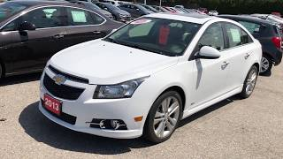 White 2013 Chevrolet Cruze LTZ Turbo Review Oshawa ON - Roy Nichols Motors Ltd