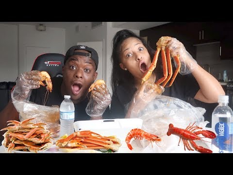 KING CRAB MUKBANG W/ KENNEDY CYMONE ( my brother ex girlfriend )