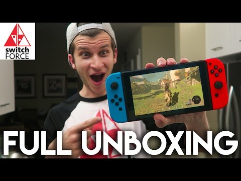 Nintendo Switch Unboxing REAL - Console, Controllers, Games, Comparisons