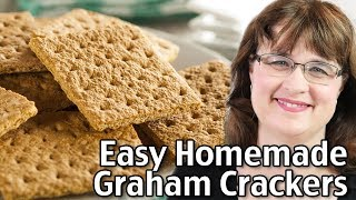 Easy Graham Crackers Recipe - How To Make Graham Crackers At Home!