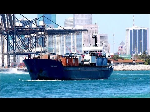 Cargo Ship - Amber Express - Miami