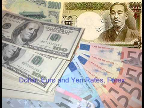 Dolar Euro Yen Rates Exchange Forex
