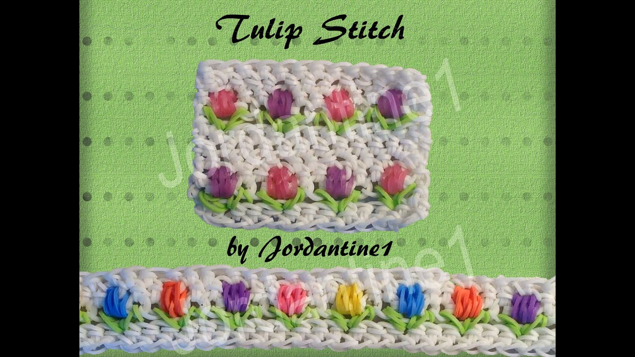 New Tulip Flower Stitch - Rainbow Loom - Hook Only - Loomigurumi ...