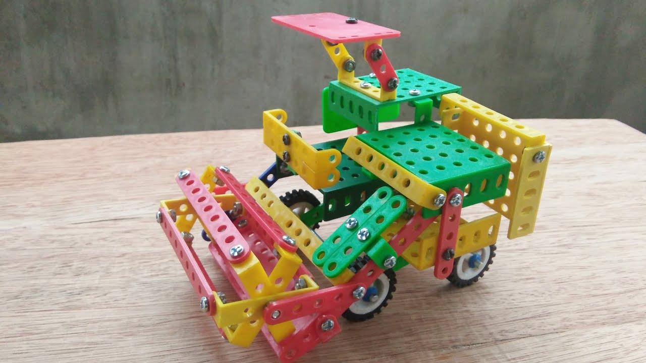 Hướng dẫn lắp MÁY GẶT LÚA từ bộ lắp ghép mô hình kĩ thuật lớp 5. Rice Reaper Assembly.