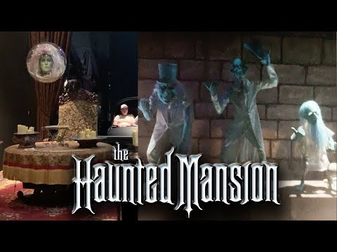 Haunted Mansion with Lights on POV side-by-side, Walt Disney World