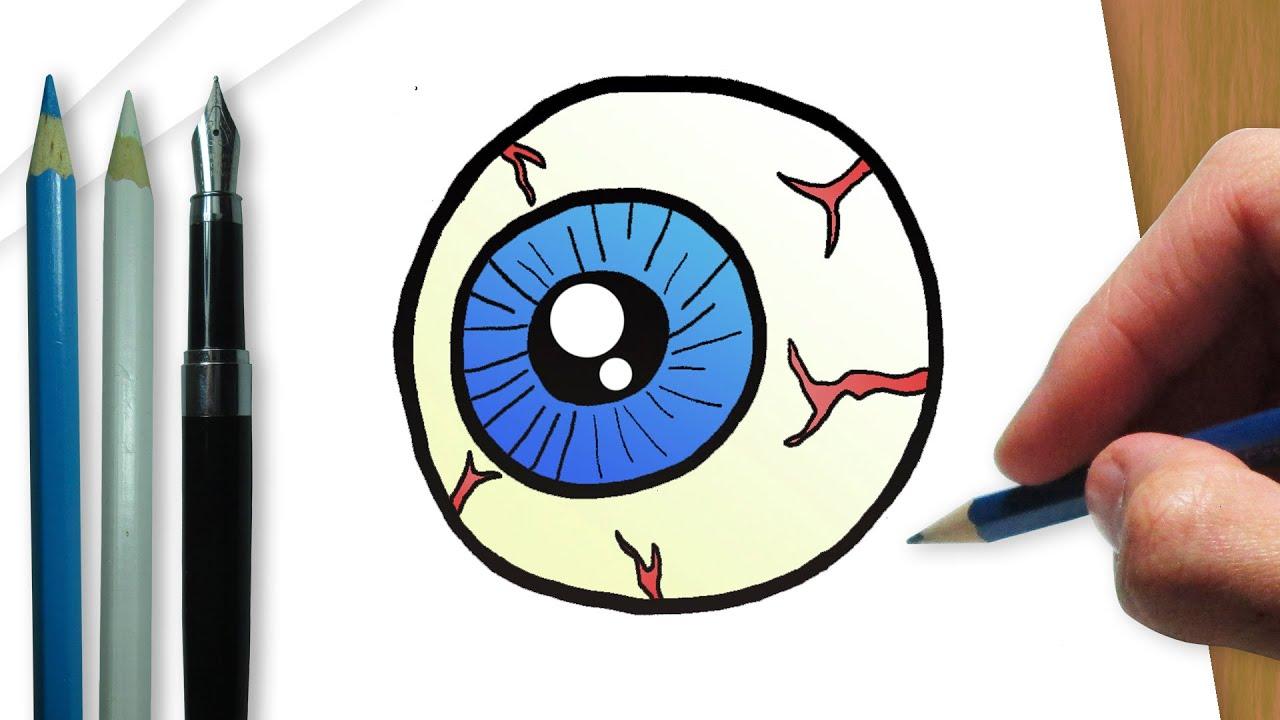 C mo dibujar un ojo de halloween youtube - Como deshacer un mal de ojo ...
