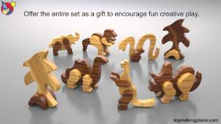 Wood Toy Plans - Funky Fun Dinosaurs