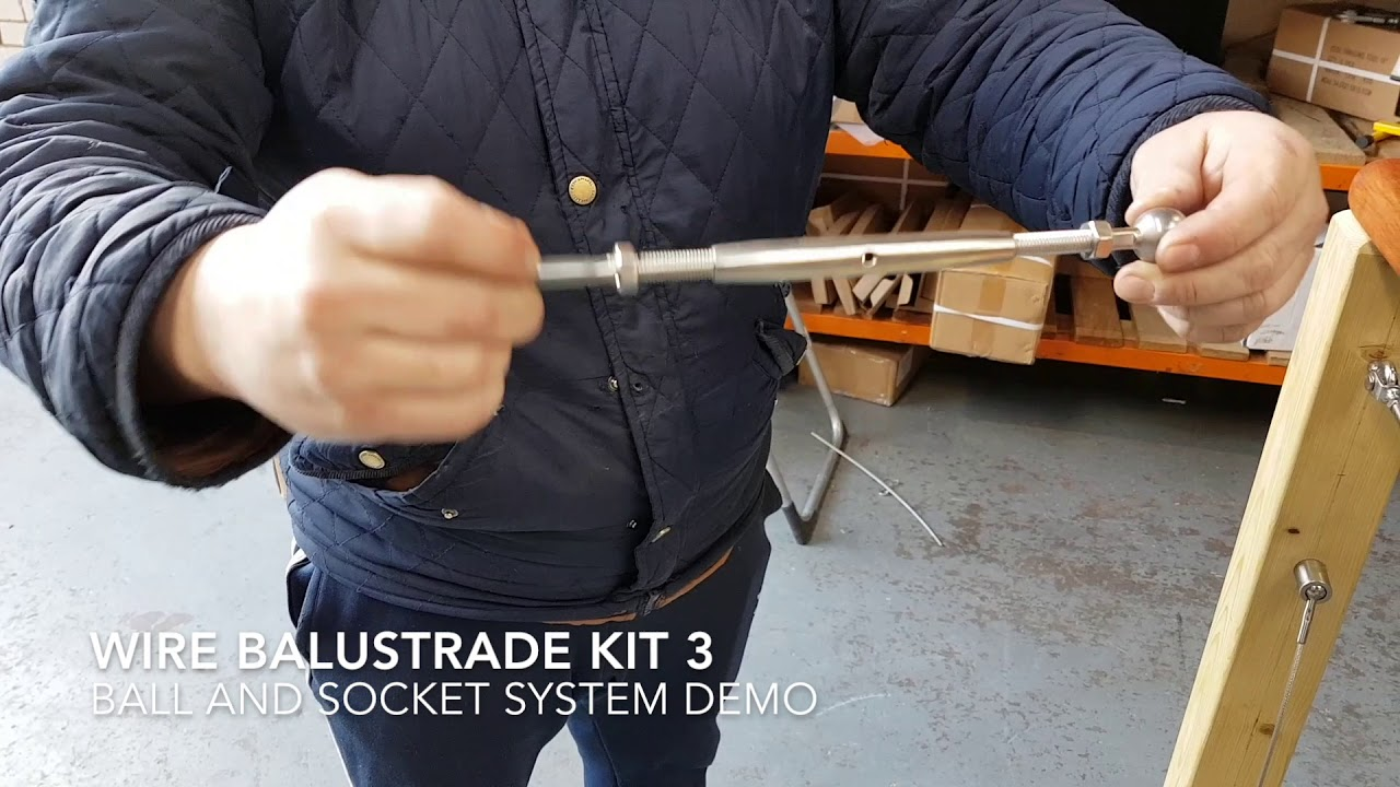 Wire Rope Balustrade Kit 3 Ball and Socket Installation Guide   GS ...