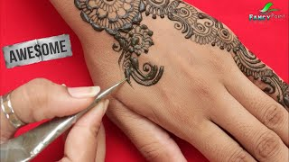 Awesome Mehndi Design 👌 Simple and Fast Hand Mehndi Design 💕